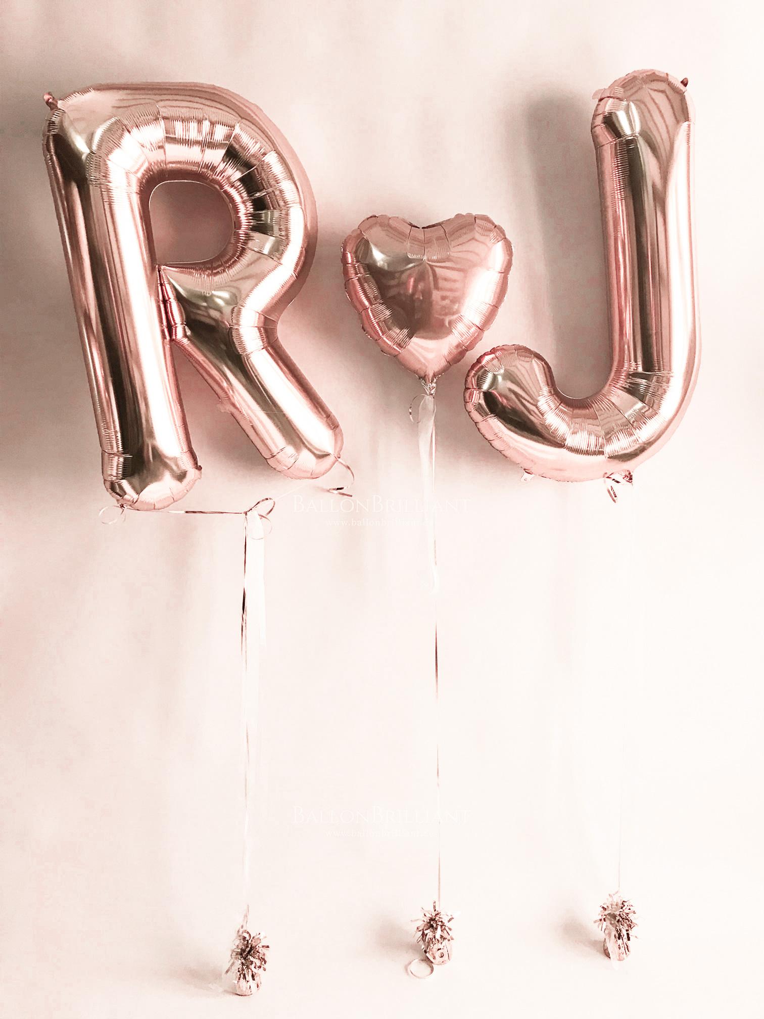 Buchstaben mit Helium