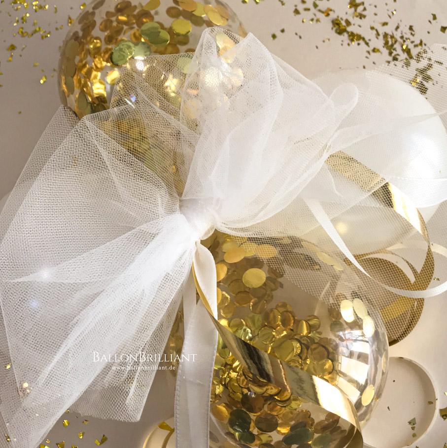 Weiß / Gold Konfetti (Nr. 3)