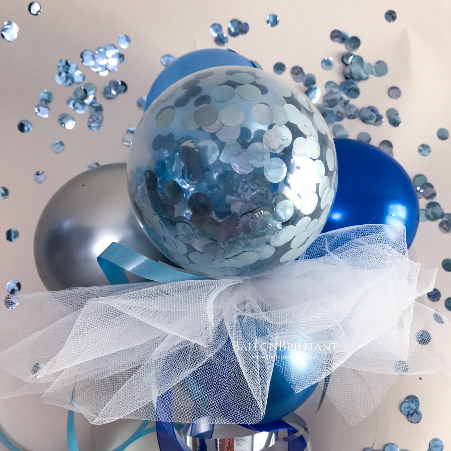 Konfetti Blau / Silber (Nr. 23)